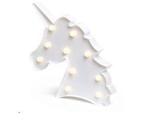Luminária Decorativa 3D Led Unicórnio Branco