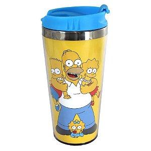 Copo Térmico 450ml c/ Tampa - Família Simpsons