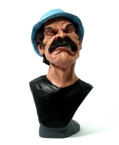 Busto Sr. Madruga Bravo - Miniatura em Resina