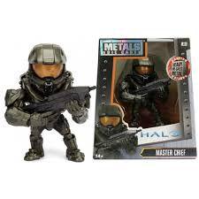 Boneco Colecionável Metal Die Cast Master Chief - Halo
