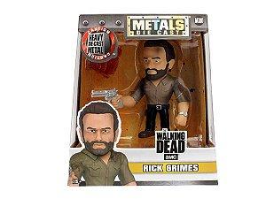 Boneco Colecionável Metals Die Cast Rick Grimes - Walking Dead