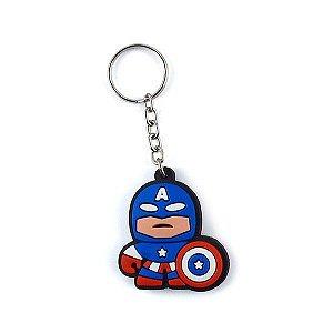 Chaveiro Emborrachado Cute - Capitão América