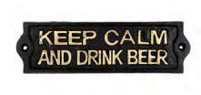 Placa de Ferro para Decoração - Keep Calm and Drink Beer