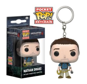 Chaveiro Pocket POP! Funko  Uncharted - Nathan Drake