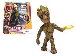 Figura Colecionável 15cm Metal Die Cast Groot - Guardiões da Galáxia