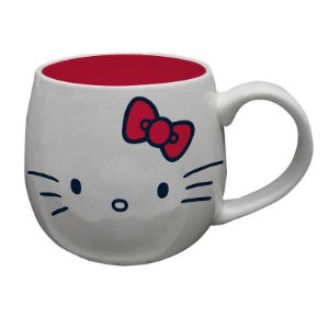 Caneca Porcelana Oval 300ml- Hello Kitty