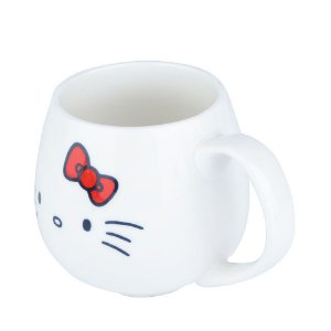 Caneca Porcelana Oval 300ml -  Hello Kitty