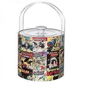 Balde p/ Gelo com Pegador - Quadrinhos DC Comics