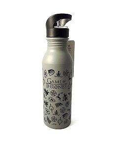 Garrafa / Squeeze Alumínio 600ml Game of Thrones - Ícones e Brasões
