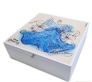 Porta Jóias Madeira - Cinderella - Princesas Disney