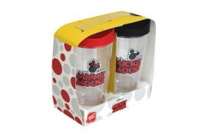 Conjunto com 2 Copos 450ml Bordados - Mickey e Minnie - Disney