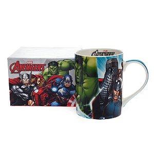 Caneca Porcelana 460ml Heróis Marvel - Vingadores