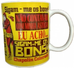 Caneca Porcelana 300ml Chapolin Colorado - Frases