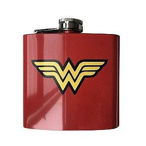 Cantil de Aço Inox 170ml Logo Mulher Maravilha - DC Comics