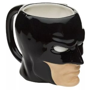 Caneca Porcelana 3D 480ml Batman Face - DC Comics