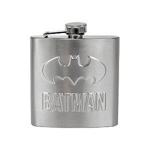 Cantil de Aço Inox 170ml Logo Batman - DC Comics