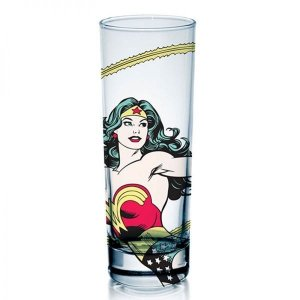Copo de Vidro Mulher Maravilha DC Comics
