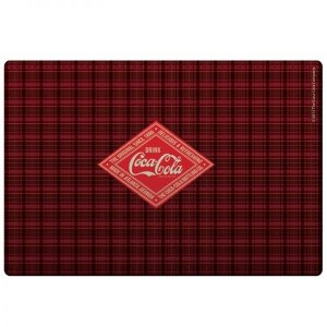 Jogo Americano e Porta Copos Coca Cola Xadrez