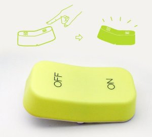 Luminaria de mesa LED USB Tecla ON / OFF verde