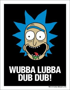 Placa Decorativa Wubba Lubba Dub Dub - Rick and Morty