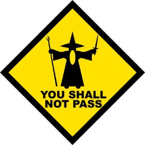 Placa Decorativa You Shall Not Pass - Gandalf
