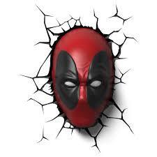 Luminaria Light FX Marvel - Máscara Deadpool