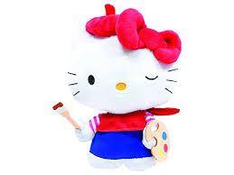 Pelúcia 20cm Hello Kitty Pintora - SanRio