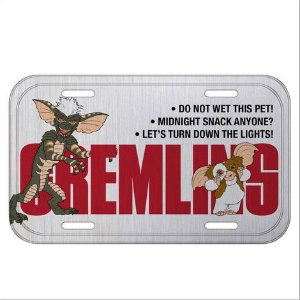 Placa de Carro Metal Decorativa Gremlins