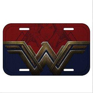 Placa de Carro Metal Decorativa Mulher Maravilha Logo - DC Comics