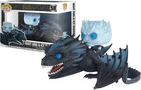 POP! Funko Game of Thrones Glows in The Dark: Night King e Icy Viserion # 58