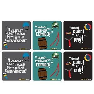 Conjunto 6 Porta Copos Turma do Chaves - Frases