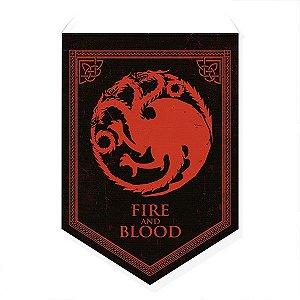Bandeirola Decorativa Casa Targaryen - GOT