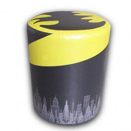 Puff de Tecido Sintético Batman Logo - DC Comics
