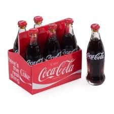 Conjunto  Set 6 Mini Garrafas Coca Cola - Filled Six Pack