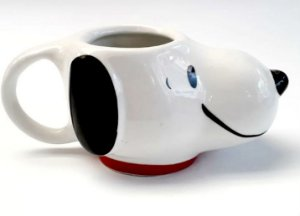 Caneca Porcelana 3D 400ml - Snoopy