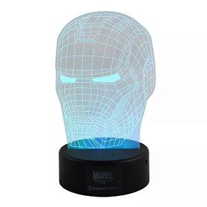 Luminária 3D Led Homem de Ferro - Marvel