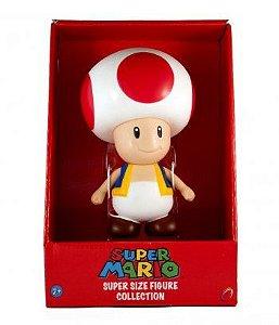 Super Mario Super Size Toad. Boneco Vinil 20cm