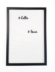Quadro de Mensagens | Letterboard 40cm