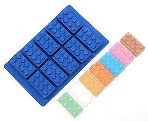Forma para Gelo e Chocolate em Silicone - Blocos