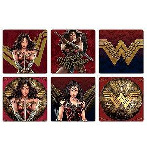 Conjunto 6 Porta Copos Mulher Maravilha - Movie