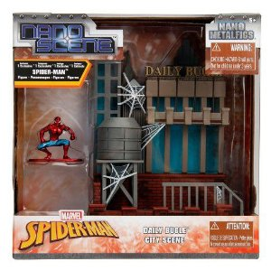 Daily Bugle City Scene - Clarim Diário e Spiderman Nano Metals Cenário
