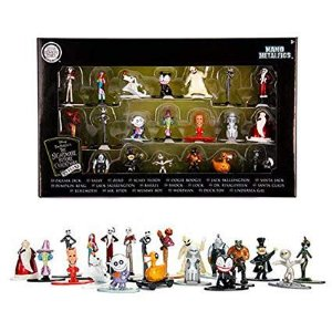 Coleção 20 Mini Figuras Nano Metals Diecast Disney - O Estranho Mundo de Jack