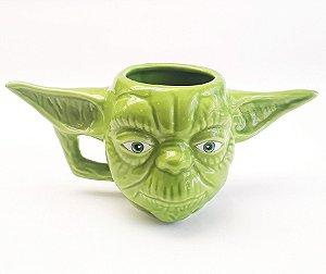 Caneca Porcelana 3D Star Wars - Yoda