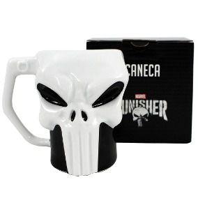 Caneca Porcelana 3D 400ml Marvel - Justiceiro