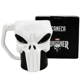 Caneca Porcelana 3D 400ml Marvel - Punisher | Justiceiro