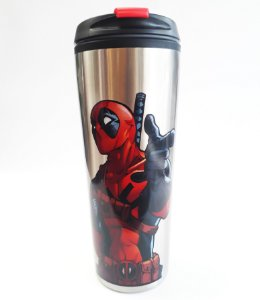 Copo Térmico Metal 450ml Marvel - Deadpool
