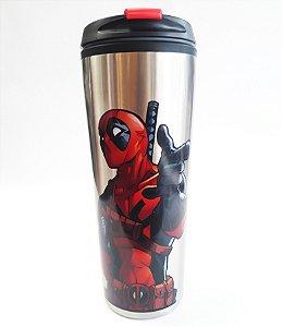 Copo Térmico Metal 450ml Marvel - Deadpool