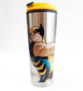 Copo Térmico Metal 450ml Marvel - Wolverine