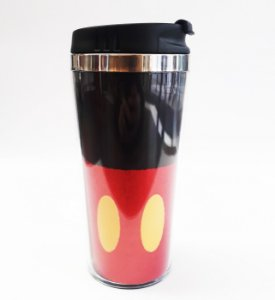 Copo Térmico 450ml Glitter Uniforme Mickey Mouse