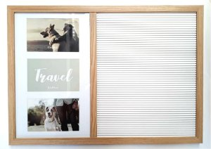 Quadro Decorativo Letreiro Letterboard e Porta Retratos